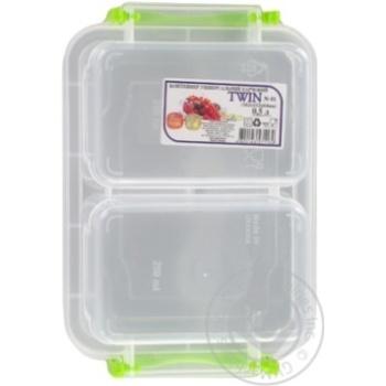 Контейнер пищевой Twin двойной с крышкой 162X112X64мм 0,5л - купить, цены на Таврия В - фото 3