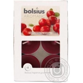 Candle Bolsius cranberry paraffin 6pcs - buy, prices for Tavria V - image 1