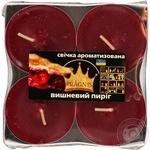 Свечи Pragnis ароматизированные Вишневый пирог 8X12см 6шт