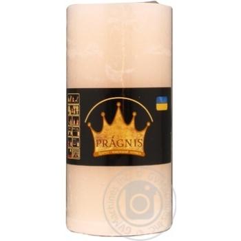 Свічка Рустік Циліндр бежевий арт.С715-080 50 год - купить, цены на МегаМаркет - фото 1