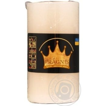 Pragnis Candle Rustic Cylinder beige - buy, prices for Novus - image 1