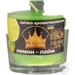 Свічка в стакані о65-79*83мм 30 год Арома лимон лайм/6 Pragnis GA68-LLM