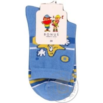 Носки Bonus детские голубые 20р