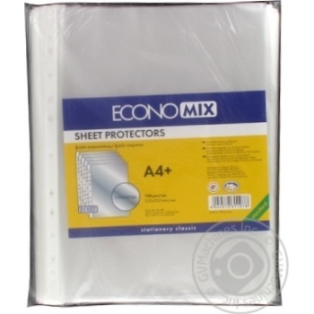 Файл EconoMix А4+ глянец 100шт