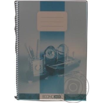 Блокнот EconoMix А4 80лист дымчатый с цветной подкладкой