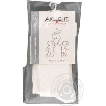 Accent White Children's Tights 86s - buy, prices for Furshet - image 1