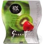 Чай зелений середньолистовий Strawberry & Kiwi полуниця/ківі Jaftea 100г