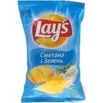 Чипсы Lay's картофельные со вкусом сметаны и зелени 35г