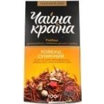 Чай Чайна Краина Ройбуш Земляничный ароматизированный с добавлением растительного сырья 100г Украина