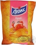 Potato chips Lux with crab taste 133g