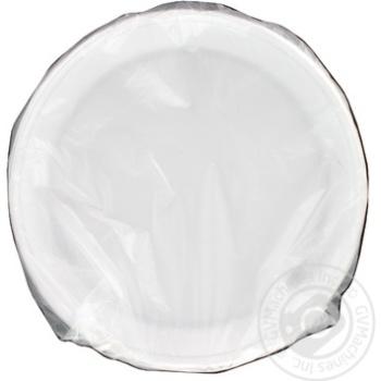 Тарелка белая 205мм 50шт - купить, цены на Метро - фото 1