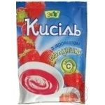 Kissel Eko strawberries with cream for desserts 90g packaged