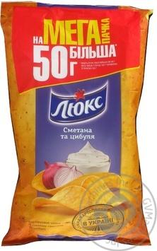 Чипсы картофельные Люкс со вкусом сметаны и лука 183г