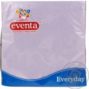 Серветки паперові Eventa 33*33 пастель трьохшарові фіолетові 20шт - купить, цены на Novus - фото 1