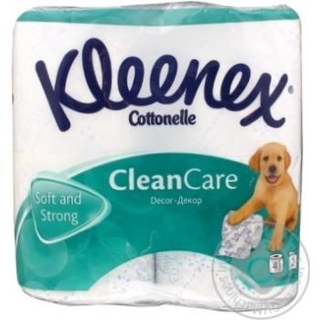 Папiр туалений Kleenex Decor біло-блакитний 4шт