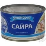 Fish saury Akvamaryn with addition of butter 245g can Ukraine