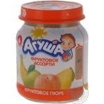 Puree Agusha fruit for children from 6 months 115g glass jar