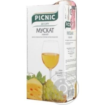 Вино Picnic Мускат біле напівсолодке 12% 1л - купити, ціни на Novus - фото 1