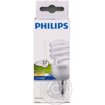 Лампа Philips Econ Twister 12W CDL E14 220-240V 1PF/6 - купить, цены на Novus - фото 1