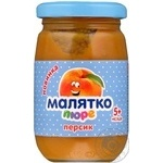 Malyatko peach puree for children from 5 months 180g