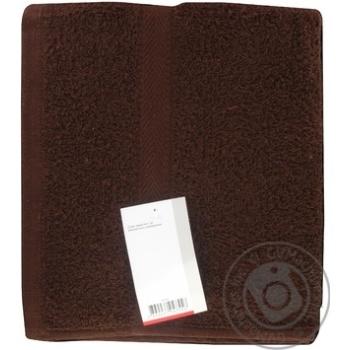 Полотенце махровое 50х90см темно-коричневое