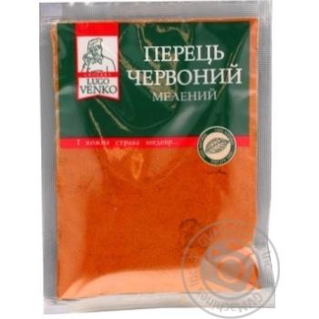 Перець червоний мелена прозора серiя Lugo Venko 40г