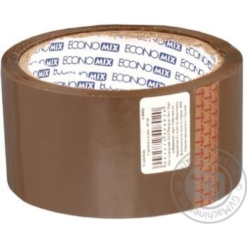 Стрічка клейка пакувальна Economix коричнева 48мм*50м 40802