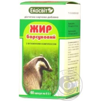 Добавки активні біологічні Жир борсуковий капсули №60 Екосвіт Ойл - купить, цены на Novus - фото 1