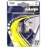Лампа Narva автомобільна 2шт T4W 12V BA9s Art.17131 x6