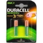 Батарейки акумуляторні Duracell AAA 750 мА/год 2шт HR03