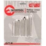 Набір свердлів по склу InterTool 8 од. 4-12ммSD-0278