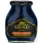 Fruit cherry Mikado blue canned 314ml glass jar