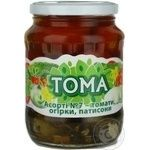 Vegetables tomato Toma №7 canned 680g glass jar