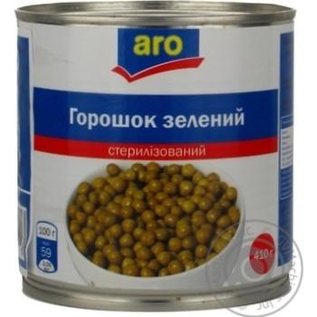 Горошок зелений Aro консервований - купити, ціни на Метро - фото 5