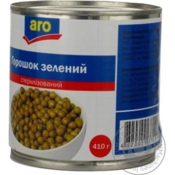Горошок зелений Aro консервований - купити, ціни на Метро - фото 3