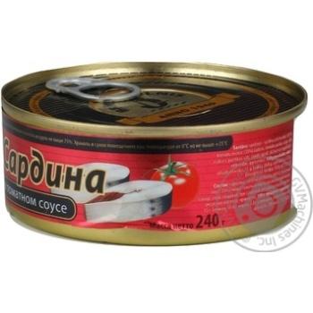 Сардины Бривайс Вильнис в томатном соусе 240г - купить, цены на Метро - фото 3