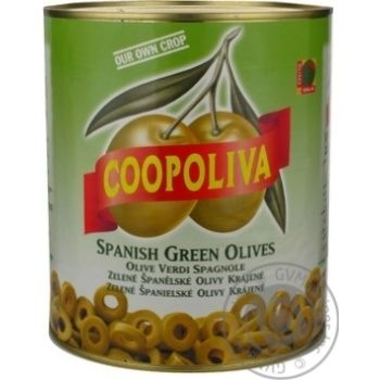 оливка Коополива консервированная железная банка