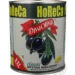 Маслини Діва Оліва ХХL чорні з кісточкою 3250мл Іспанія