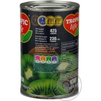 Ківі Tropic Life скибочки в сиропі 425г - купити, ціни на Фуршет - фото 4