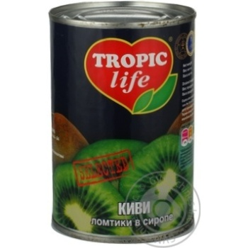 Ківі Tropic Life скибочки в сиропі 425г - купити, ціни на Фуршет - фото 2