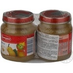 Puree Semper Pear with vitamin C for 4+ month old babies glass jar 270g Sweden