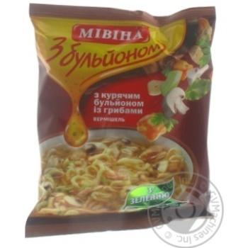 Макароны вермишель Мивина с куриным бульоном с грибами 70г Украина