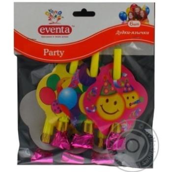 Дудки-язычки Eventa пластиковые с декором 6шт - купить, цены на Novus - фото 7