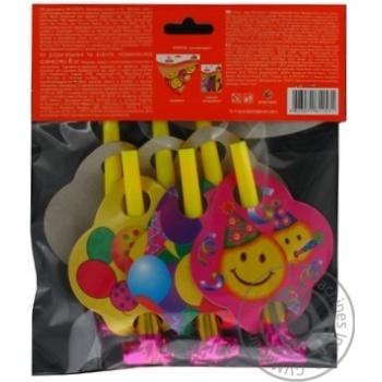 Дудки-язычки Eventa пластиковые с декором 6шт - купить, цены на Novus - фото 5