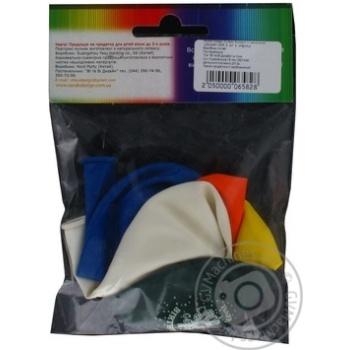 Кулі повітряні Все для свята Party Favors асорті з малюнком 5шт 61130/5 - купити, ціни на Novus - фото 2