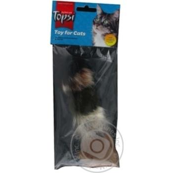 Іграшка Topsi для тварин Миша пухнаста Art.1601 х6 - купити, ціни на МегаМаркет - фото 2