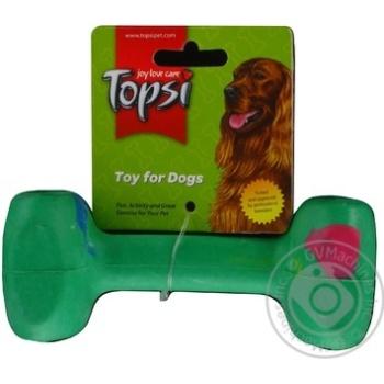 Іграшка для тварин Topsi Гантеля натуральна гума 108