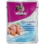 Консерва для котів Whiskas Мур-р-рибка Шматочки Океанної рибки в желе 85г