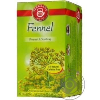 Чай Тікане трав'яний фенхель пакетований 20шт 40г