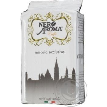 Кофе Нэро Арома Эксклюзив натуральный жареный молотый 250г Италия - купить, цены на Novus - фото 1